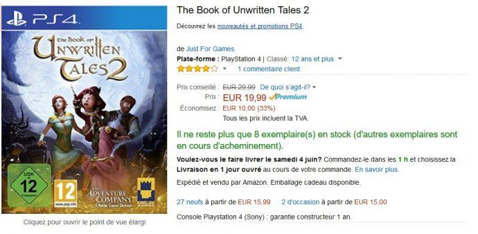 Bon plan The Book of Unwritten Tales 2