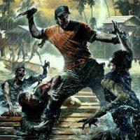 Dead Island dessin scène de combat sur ponton