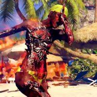 Dead Island zombie en feu