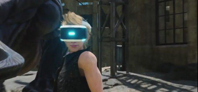 Final Fantasy XV VR Experience Prompto avec un casque de VR