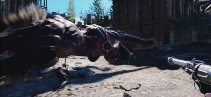 Final Fantasy XV VR Experience Prompto face au Béhémoth