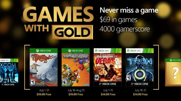 Games With Gold juillet 2016