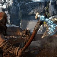 God of War Kratos hache à la main