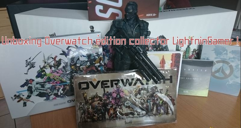 Unboxing Overwatch collector banière