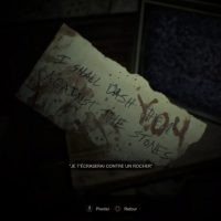 Resident Evil 7 Teaser Beginning Hour - message
