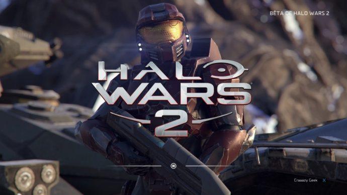 Halo Wars 2 écran d'accueil
