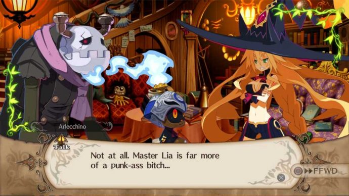Séquence de dialogue dans The Witch and the Hundred Knight Revival Edition