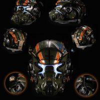 TitanFall 2 édition Vangard le casque sous différents angles