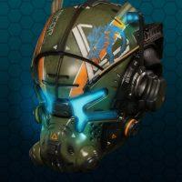 TitanFall 2 édition Vangard le casque en gros plan