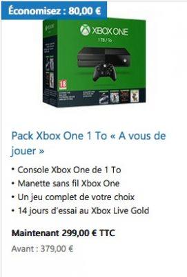 console xbox one à 299€
