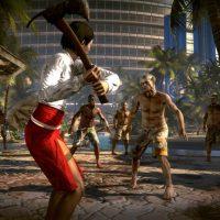 Dead Island combat à la hache contre une horde