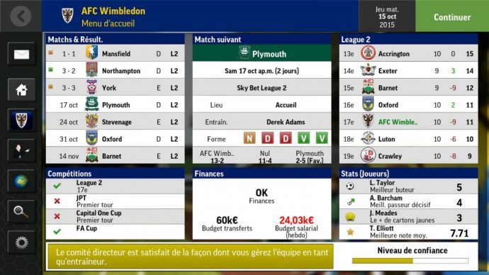 Foot Football Manager Mobile 2016
