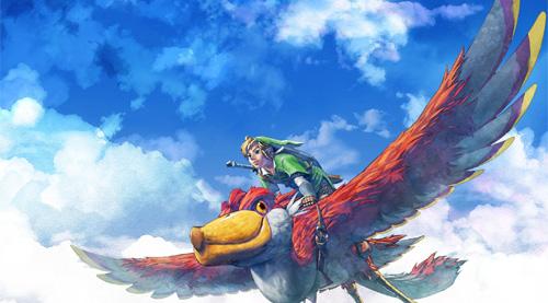 Link sur son destrier volant