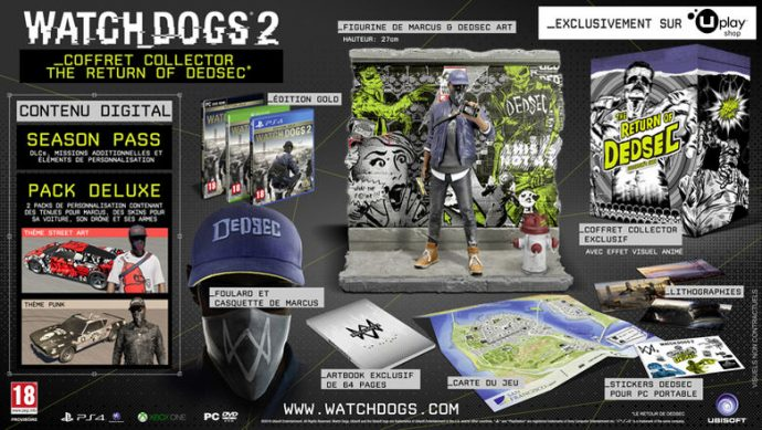 Coffret Collector The Return of DedSec Watch_Dogs 2