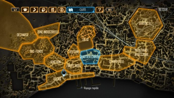 Dex carte de la ville