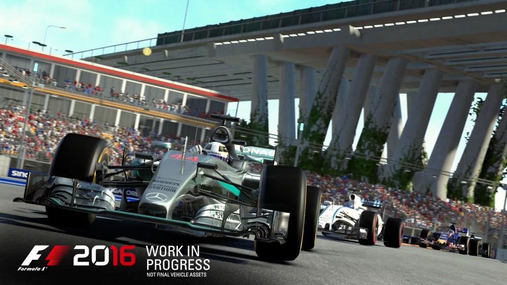 Rendu graphique du jeu F1 2016