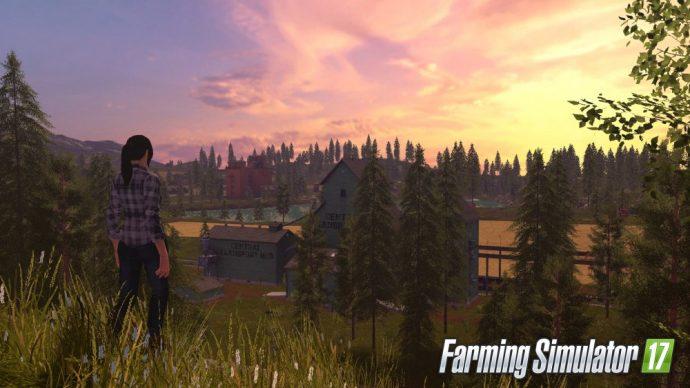 Farming simualtor 17 femme dans un champ