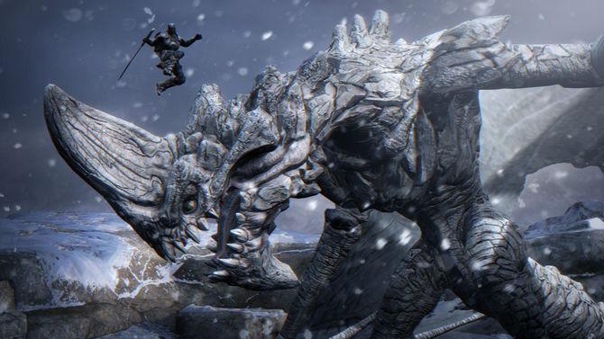 Infinity Blade combat contre un monstre géant