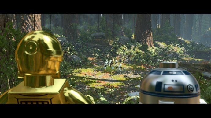 LEGO Star Wars Le reveil de la Force C3-PO R2D2 sur Endor