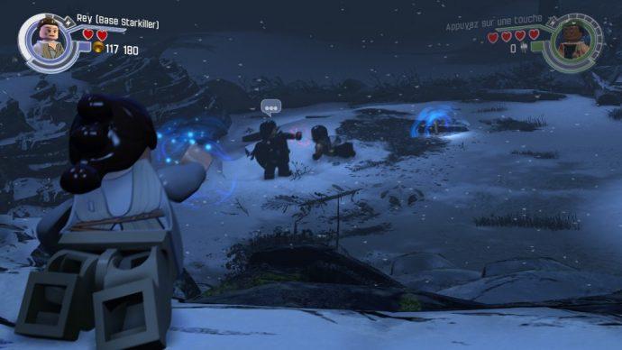 LEGO Star Wars Le reveil de la Force Faucon Millénium ren et rey