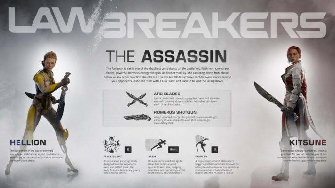 Lawbreakers présentation assassin