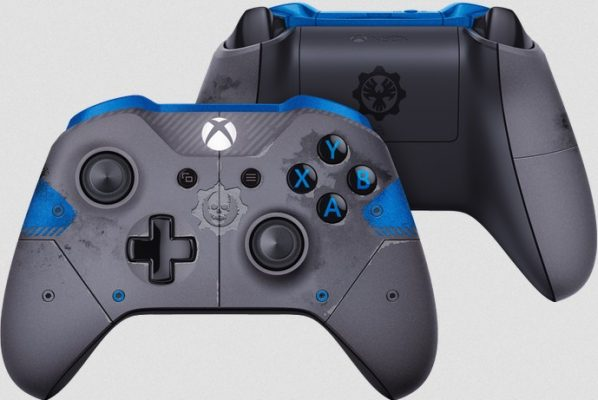 Manette Xbox One Collector Gears of War 4 bleu gris