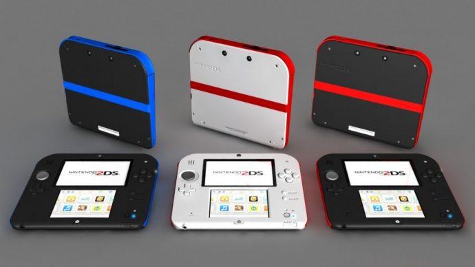Console portable Nintendo 2DS trois coloris