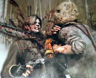 Resident Evil 4 Leon VS tronceneuse