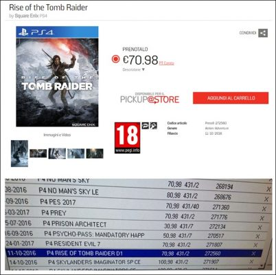 Rise of Tomb Raider fuite date de sortie PS4