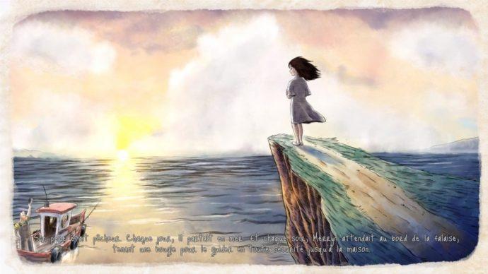 Merryn sur la falaise le jour song of the deep