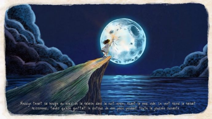 Merryn sur la falaise de nuit song of the deep