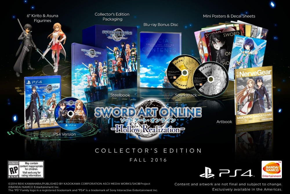 Sword Art Online Hollow Realization Collector US