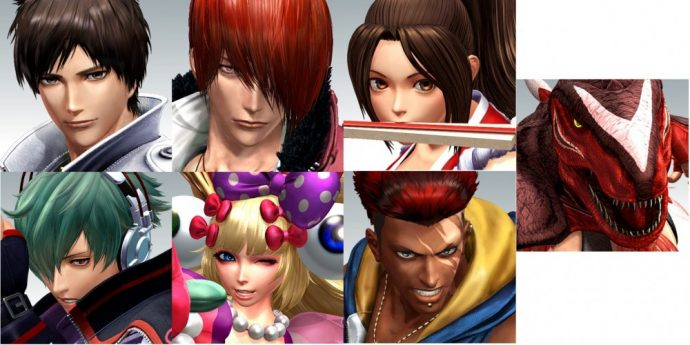 The king of fighters XIV personnages démo