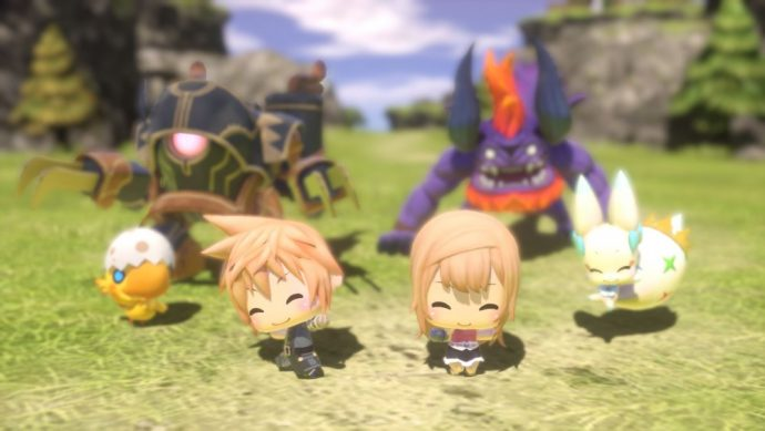 World of Final Fantasy - personnages chibi