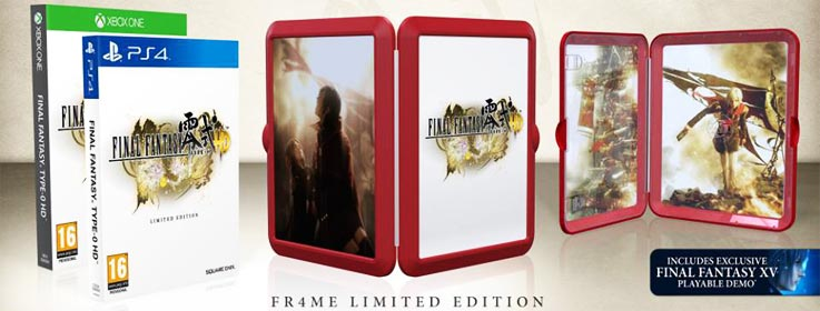 Final Fantasy Type-0 edition collector frame
