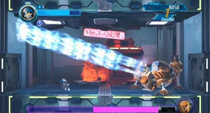 Mighty No.9 boss fight