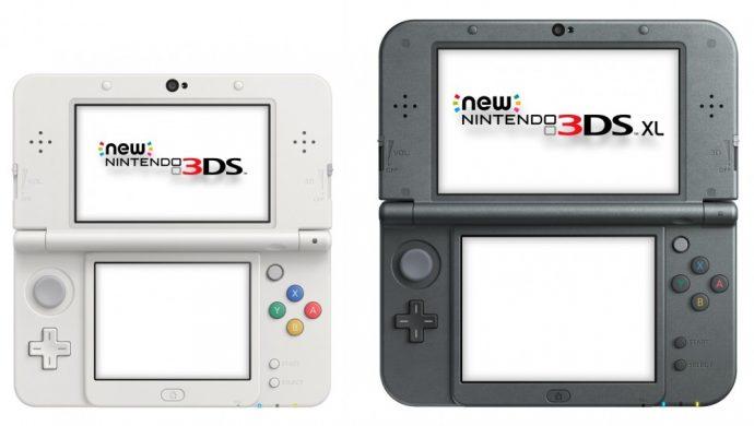 Console portable new nintendo 3ds standard blanche et XL noire