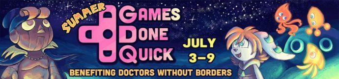 SGDQ banniere summer games done quick speedrun