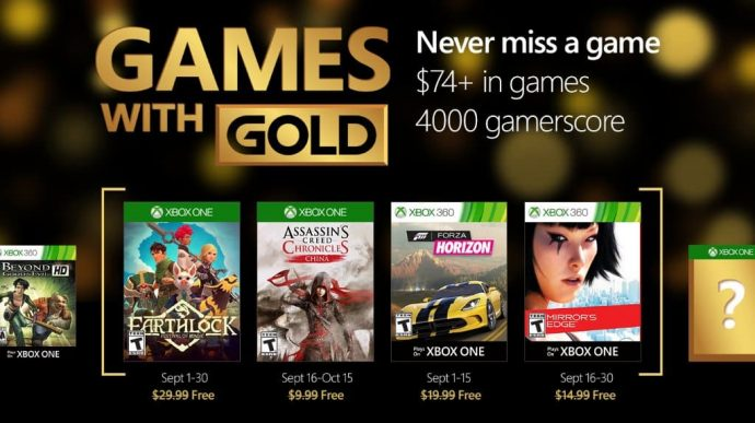 Games with Gold septembre 2016