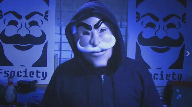 Mr. Robot masque Fsociety