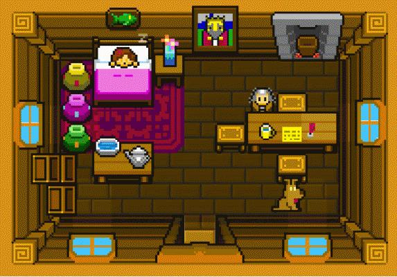 Blossom Tales Zelda III intro