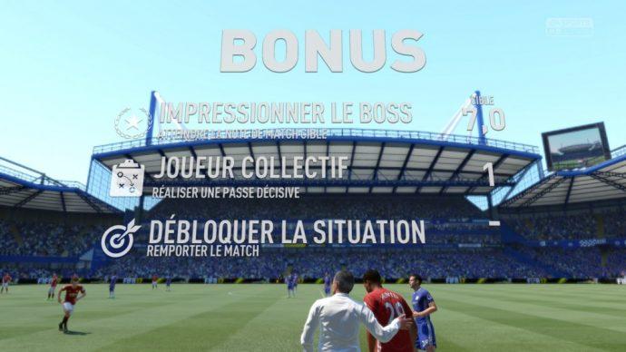 les bonus du mode Aventure dans FIFA 17