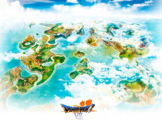 Dragon Quest VII La carte du monde