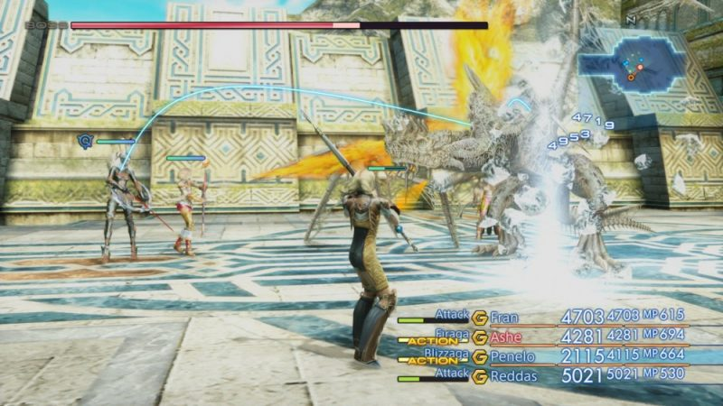 Final Fantasy XII The Zodiac Age combat