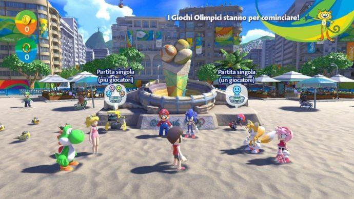 Mario & Sonic aux Jeux Olympiques de Rio 2016 - Plage Hub