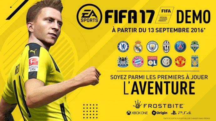Lancement de la démo de FIFA 17
