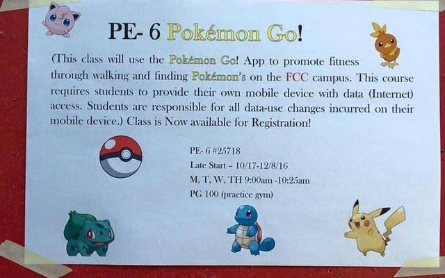 Pokémon Go affiche de cours