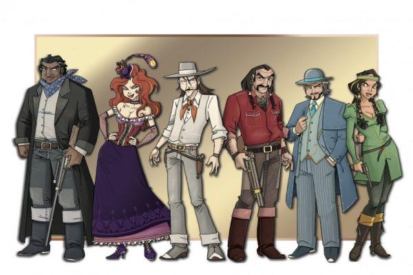Les personnages du Colt Express