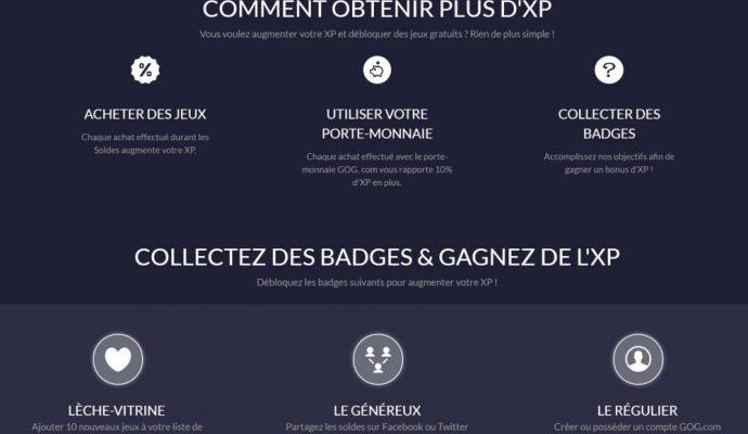 Un aperçu des badges qui vous feront gagner de l'XP