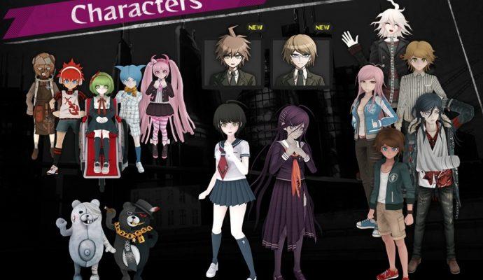 Le groupe des Warriors of Hope, les Monokumas et nos deux héroïnes au centre